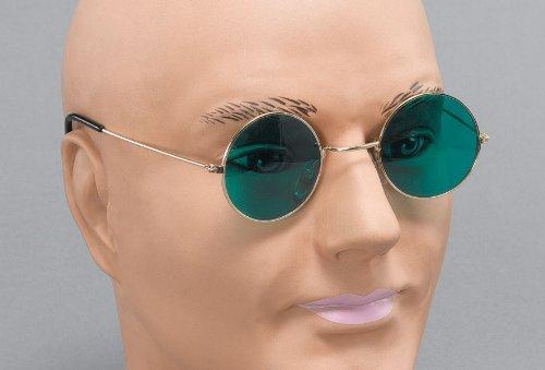 John Lennon Brille mit grünen Linsen (John Lennon Kostüm Brille)
