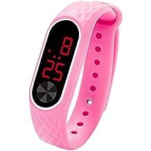 QinMM Reloj Digital con Pantalla LED Reloj para Mujer y Hombre Unisex Reloj Deportivo xiaomi de