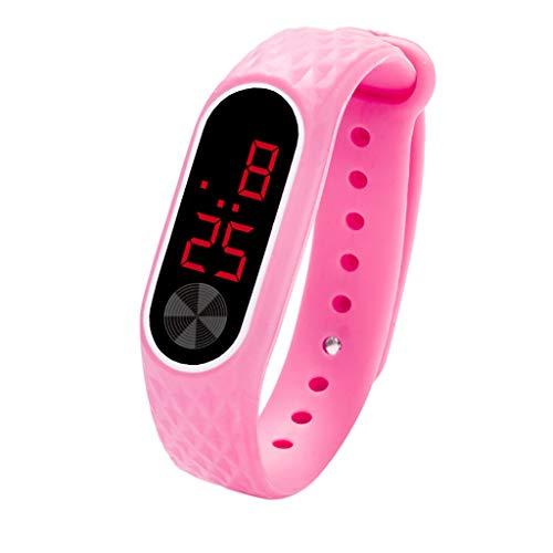 QinMM Reloj Digital con Pantalla LED Reloj para Mujer y Hombre Unisex Reloj Deportivo xiaomi de Gel de sílice Pulsera Actividad