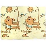 Mee Mee Soft Doggie Print Baby Blanket, Cream