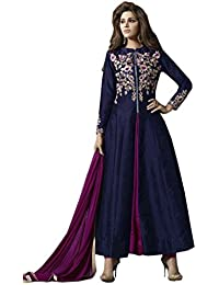 VIHA Women's Embroidered Banglore Silk Salwar Suit