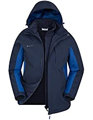 Mountain Warehouse Chaqueta Muyer 3 en 1 Impermeable Forro Polar Amovible Capucha Thunderstorm