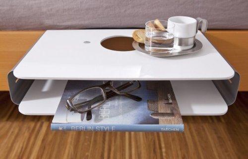 """Nachttisch""""Option"""" zum Anklemmen ans Bett Größe 40x24cm 201260101-HE"""