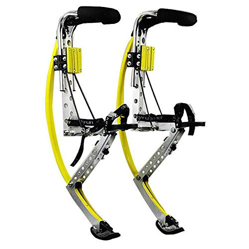 LG&S Caricato a Molla Jumping Stilts Flips per Adulti Uomini E Donne Fitness Esercizio Spettacolo con Protezione Pads & Support Ginocchio,L