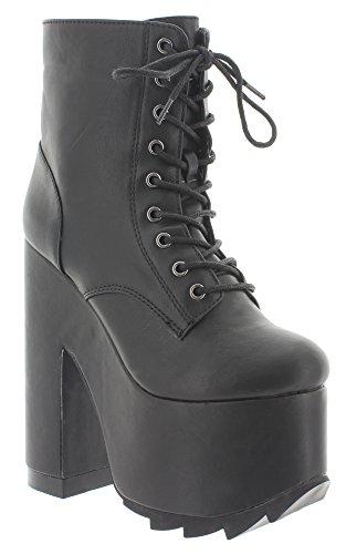 YRU , chaussures compensées femme Noir - Noir