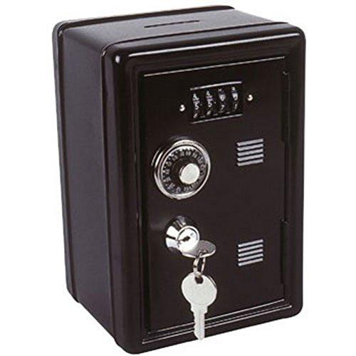 Spardose TRESOR schwarz - mit Zahlenschloss + Schlüssel