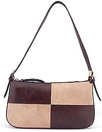 S.B.BAGS Aaimfa PU Leather Women Brown & Tan White Sling Bag