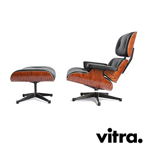 Vitra Lounge Chair & Ottoman XL Palisander/Nero - Eames Lounge