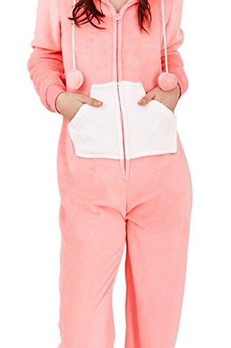 Damen Bären Onesie Loungeable – 3D Ohren Overall Schlafanzug – Bernie The Bear - 3