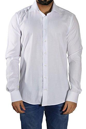 Extra Langarm Hemd Fil-a-fil Muster Slim-fit/Tailliert MUGA Weiß