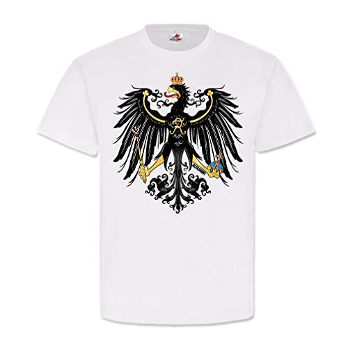 Preußen Adler 1871-1914 Preussischer Wappen Vogel Deutschland Brandenburg #22567, Größe:M, Farbe:Weiß