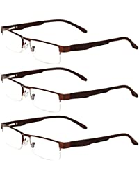 Zhhlaixing 3x Vintage Unisex Men and Women Reading Glasses Eye Lunettes +1.00-+4.00 Square Frame