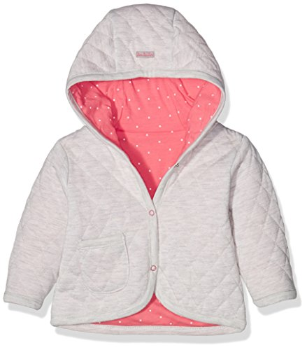 TOM TAILOR Kids Baby-Mädchen Kapuzenpullover Reversible Hood Jacket, Beige (Greyish Beige Melange 8353), 74 (74)