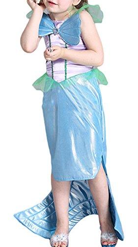 EOZY Kinder Mädchen Meerjungfrau Kostüm Prinzessin Kleid Karneval Fasching Kostüme (Niedlich Dem Kostüme Unter Meer)