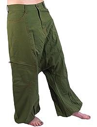 Haremshose Pluderhose Pumphose Aladinhose - olivegrün / Männerhosen