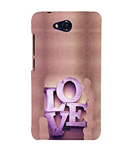 EPICCASE Love Mobile Back Case Cover For Micromax Canvas Play Q355 (Designer Case)