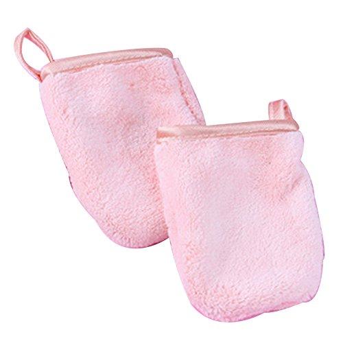 DDG EDMMS Makeup Remover Handtücher Coral Fleece Handschuhe Gesichtsreinigung Wiederverwendbare Tuch Mat Dead Skin Cell Cleansing Pink