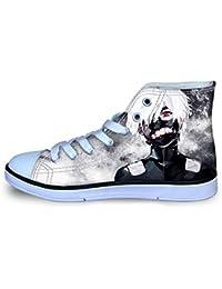 Tjhhkjuo Tokyo Ghoul Zapatos Zapatos Planos de los Zapatos de Lona Lacing Zapatos del Ocio Zapatos Ligeros de los niños del Alto-Top Calzado niños y niñas