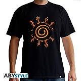 ABYstyle Naruto Shippuden T-Shirt Sceau  ,Noir, Medium