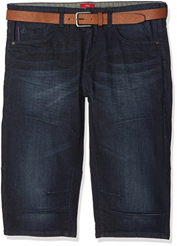 s.Oliver Big Size Herren Shorts Blau (Blue Denim Stretch 59Z4)