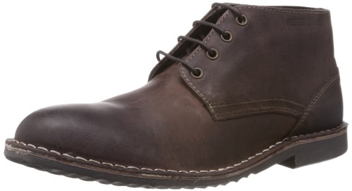 Red Tape Men's RTS7133B Brown Leather Boot- 8 UK
