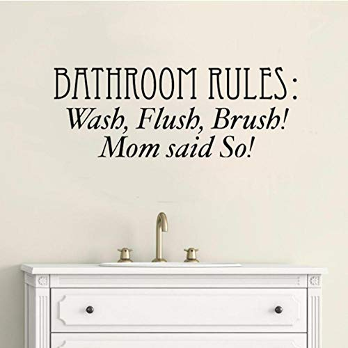 Jjlezlam 52 Cm * 19,5 Cm Bad Regeln Waschen Flush Pinsel Kunst Wohnkultur Pvc Wandaufkleber -