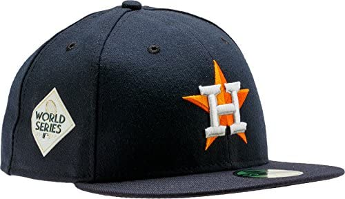 New Era Houston Houston Houston Astros Authentic 59 Fifty MLB Cap Home W 2017 WS patch, Uomo, Dark Navy | Nuovo 2019