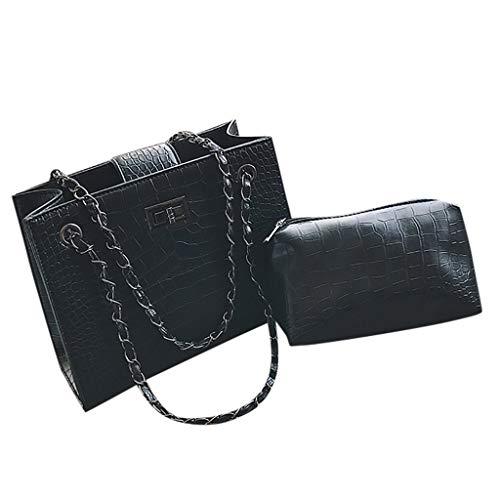 HoSayLike Damen Paillette PU Elegant Retro Vintage Tasche Kette Band Crossbody Paket Citytasche Handtasche Frauen Stilvolle PU Designer Schultertasche Taschen Umhängetasche (Laptop-tasche Von Gucci)
