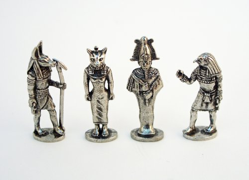 set of four role playing miniature figurines;made from metal;1 1/2H x 1/2W