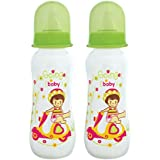 Mee Mee Premium Baby Feeding Bottle (Green, 250 Ml) Pack Of 2