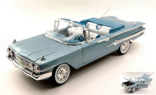 chevrolet-impala-1960-metallic-light-blue-118-welly-auto-stradali-modello-modellino-die-cast