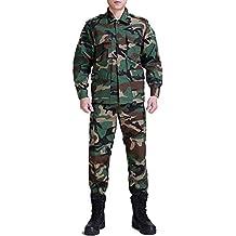 Traje de camuflaje combate Regular Edition BDU Uniforme Traje de uniforme militar BDU de caza Wargame Paintball Coat + Pantalones, color  - Camuflaje, tamaño XXL