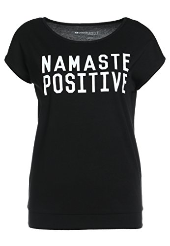 Even&Odd Damen Sport T-Shirt Namaste in Schwarz, XS