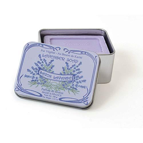 gaesteseife Le Blanc Gäste-Seifen 150 g in Nostalgie-Blechdose, Duft Lavendel