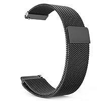 Gear S3 Watch Band, Milanese Loop Stainless Steel Bracelet Smart Watch Strap for Samsung Gear S3 Frontier / S3 Classic/Moto 360 2nd Gen 46mm Smartwatch, BLACK