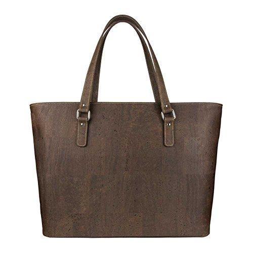 sac fourre-tout pour femme sac bandoulière - En liège vegan durable marron Marron