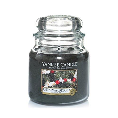 Yankee Candle 1316481E Christmas Garland Candele in Giara Media, Vetro, Verde, 9.9X9.8X12.4 Cm