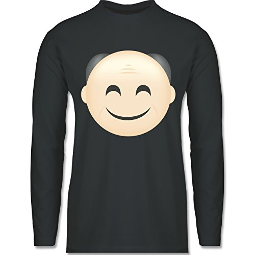 Opa - Opa Emoji - Longsleeve / langärmeliges T-Shirt für Herren Anthrazit