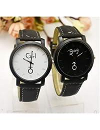 shuda 1 pcs Multifuncional Reloj mujer Reloj hombre Reloj de Par regalo de Fin de año