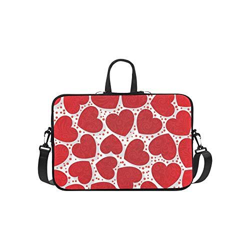 Bella-laptop-tasche (Romantic Hearts Aktentasche Laptoptasche Messenger Schultertasche Crossbody Handtasche für Geschäftsreisen)