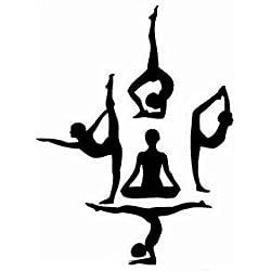 Pegatina yoga para dormitorios gimnasios 78 x 56 cm de OPEN BUY