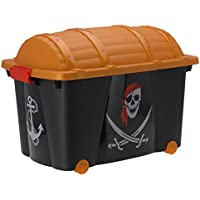 Preisvergleich für EMAKO Aufbewahrungsbox mit Rollen/Spielzeugkiste Pirat–57L
