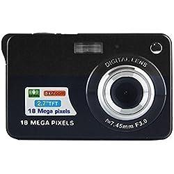 Appareil Photo numérique, CamKing CDC3 2,7 Pouces TFT LCD HD Mini Appareil Photo numérique (Noir) (CDC3-1)