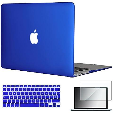 '3in 1in gomma opaca morbida e liscia al tatto custodia rigida per MacBook Air 13.3(modelli: A1369e A1466) + tastiera Cover + Pellicola Protettiva Schermo Royal Blue EU/UK Keyboard Version