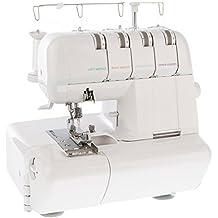Levivo - Máquina de coser overlock NO1 de 4 hilos, blanco