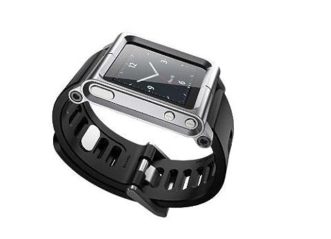 Fiona Multi-Touch cas de couverture de bande de montre en aluminium pour Apple iPod nano 6ème génération 8 Go 16 Go (OEM)