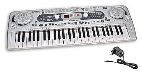 Bontempi - 165415 - Instrument De Musique - Clavier Numérique 54 Touches Avec Adaptateur Et Prise USB
