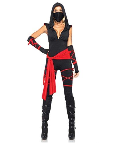 Sexy Deadly Ninja Kostüm Deluxe für Frauen an Halloween & Karneval M (Ninja Halloween Kostüme Für Frauen)