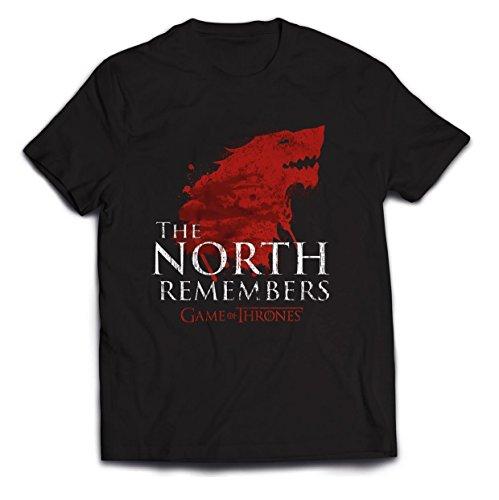 Plastic Head Herren Game of Thrones The North Remembers T-Shirt, Schwarz (Black), M