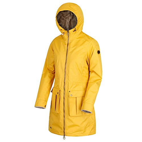 Regatta romina waterproof and breathable insulated hooded, giacca donna, mustard seed, taglia 28
